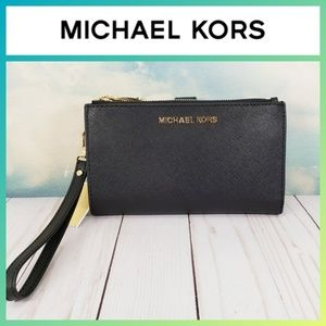 Michael Kors Large Double Zip Wristlet Wallet